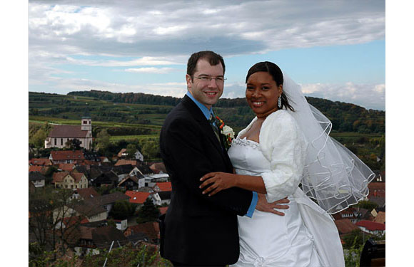 "Joy, married 2005 <br> ""Tobias and I were married after 2 years of practicing <i>The Rules</i> during a long distance relationship between England and New York. We married in his home country of Germany in  2005 and our marriage is very balanced because I followed <i>The Rules</i> to the letter."""