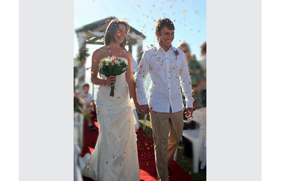 """Brooke, married January, 2009 <br> """"<i>The Rules</i> helped me to re-establish myself as a priority in my own life and, consequently, I found a man who makes me the priority in his!"""""""