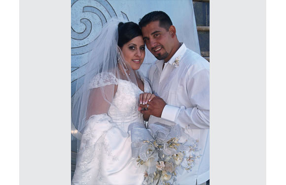 """Andrea, married October, 2008 <br> """"After reading <i>The Rules</i> it became second nature and then I met Mr. Right, everything just fell into place, just like the book said it would."""""""